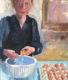 'Eggs (self-portrait)' by Brita Granström