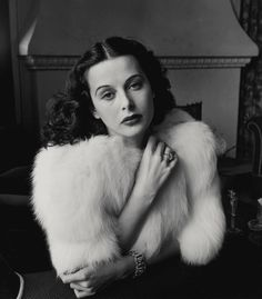 """Hope & curiosity about the future seemed better than guarantees. The unknown was always so attractive to me...and still is.""― Hedy Lamarr (by Alfred Eisenstaedt, 1938)"