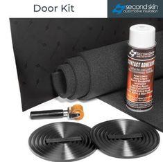 Second Skin Car Audio Door Insulation Kit Industrial Strength Velcro, Soundproofing Material, Strong Tape, Butyl Rubber, Door Insulation, Door Kits, Foam Sheets, Car Makes, Wooden Hand