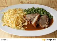 Vepřové na česneku Spaghetti, Beef, Ethnic Recipes, Food, Catalog, Meat, Essen, Ox, Ground Beef