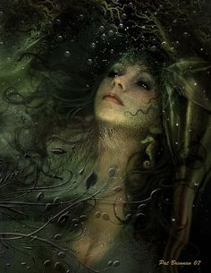 water faeries- Undines are water elementals, and as such, spirits of thewater world. We could say an Undine is a personification of water. Many schools of thought liken Undines to sprites, nymphs and mermaids. Fantasy World, Fantasy Art, Morgana Le Fay, Water Nymphs, Ondine, Nature Spirits, Fairytale Art, Photoshop, All Nature