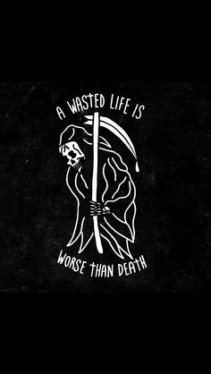 Grim reaper I've wasted my whole entire life so come and get me please. Skeleton Art, Arte Horror, Future Tattoos, Skull Art, Dark Art, Tattoo Inspiration, Tattoo Drawings, Aesthetic Wallpapers, Tatting