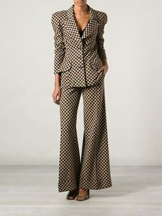 Biba Vintage Checkered Trouser Suit - Decades - Farfetch.com