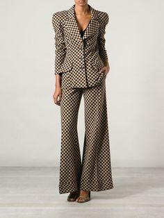 Biba Vintage Checkered Trouser Suit - Decades - Farfetch.com