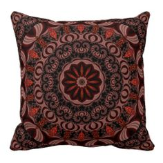 Chocolate, Raspberries, Peppermint Stick Abstract Pillow $71.95