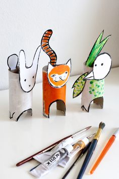 UKKONOOA: Recycled Cardboard Animals