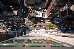 Ever seen New York from this angle - New York Intersection from Above. Photo by Navid Baraty. Source Amusing Planet.