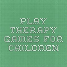 play therapy games for children