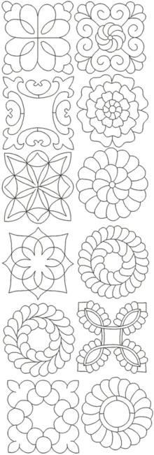 Advanced Embroidery Designs - Mandala Quilting Pattern Set.