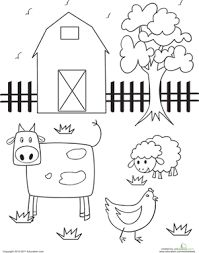 FREE........Farm Theme. There are 4 worksheets. Each page