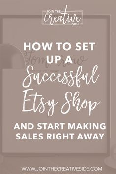 I will guide you through every step to set up your successful Etsy shop so you are ready to make sales right away. Etsy Etsy shop Tips Successfull etsy tips etsy making money get started with etsy Etsy Business, Craft Business, Business Tips, Online Business, Business Marketing, Business Accounting, Business Launch, Business Articles, Business Opportunities