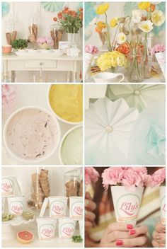 Ice cream bar: love all the colors!