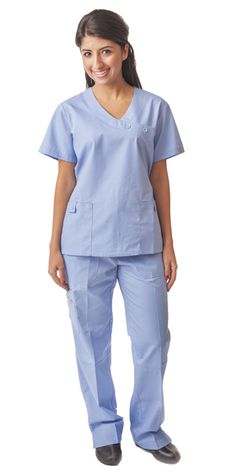 6cc82471fa7 Ciel Cross Button Mock Wrap Women's Scrubs -Set - DRESS A MED Scrub Sets,