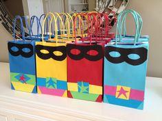 Super hero party goody bags