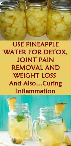 pineapple water for detox , joint pain removal and weight loss and also … curing inflammation.Use pineapple water for detox , joint pain removal and weight loss and also … curing inflammation. Quick Weight Loss Tips, Weight Loss Help, How To Lose Weight Fast, Losing Weight, Reduce Weight, Weight Gain, Weight Loss Diets, Weight Loss Challenge, Drinks For Weight Loss