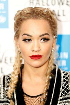 Celebrity Boxer Braids Hairstyles Rita Ora French Braid Holiday Hairstyles Party Hairstyles