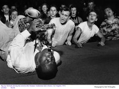 Big Jay McNeely driving the crowd, Los Angeles, 1953. Photograph by Bob Willoughby