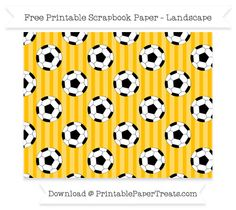 Landscape Amber Striped Large  Soccer Ball Pattern Paper