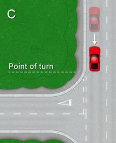 k53 drivers test 3 point turn