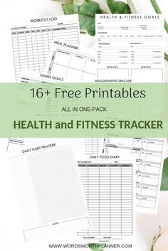 Free printable for health and fitness tracker free planner i Yoga Fitness, Sport Fitness, Health Fitness, Fitness Logo, Fitness Quotes, Free Planner, Printable Planner, Free Printables, Planner Stickers