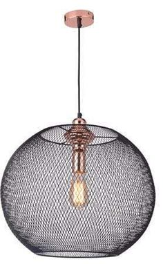 Bulb required: 1 x (h) x (d) Ceiling Lights, Bulb, Copper, Home Decor, Pendant Light, Mesh, Light