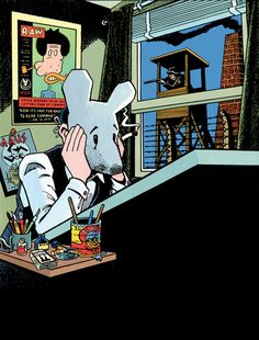We've been thinking a lot about Art Spiegelman lately, in part because the comic artist's first major Paris retrospective recently opened at Centre Pompidou, the city's biggest modern art museum. The exhibition, entitled Art Spiegelman: Co-Mix,… Maus Art Spiegelman, Comic Book Artists, Comic Artist, Comic Books, Maus Illustration, Illustrations, Graphic Novel Art, Jewish Museum, Nerd