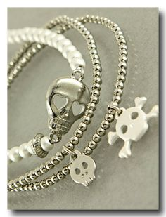Silver Skullie 3 Piece Set  from P.S. I Love You More Boutique