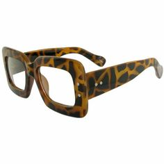 Big Square Glasses, a la Marc, Retro, Nerd, Vintage Look, Heavy!