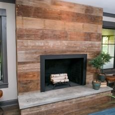 Custom Living Room Fireplace is Focal Point for Space