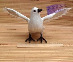 47.00$  Buy now - http://alixn0.worldwells.pw/go.php?t=32613512641 - simulation white pigeons toy flying polyethylene & furs handicraft bird about 32x14x23cm