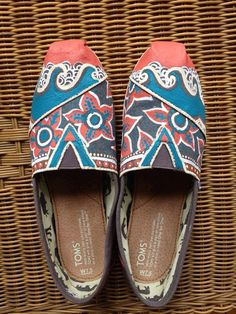 Beach wave hand painted TOMS by ChristinaEvertArt on Etsy