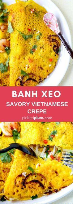 Banh Xeo (Bánh Xèo) - Savory Vietnamese Crêpe - Pickled Plum Food And Drinks