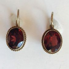 Gold plated antique look sterling silver lever back clasp earrings wi... Lot 977