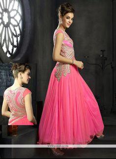 Felicity Hot Pink Net Gown