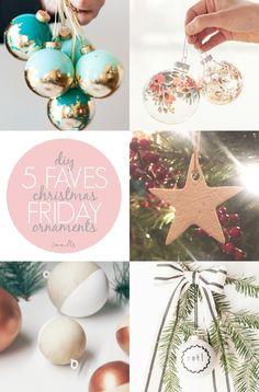Another festive 5 favourites for you! DIY Christmas Ornaments on Isoscella Diy Christmas Ornaments, Christmas Bulbs, Xmas, Food Crafts, Diy Crafts, All Holidays, Friday, Holiday Decor, Blog