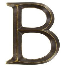 Bronze letters, wall letters, metal wall decor letters, hanging wall letters, Letter B by LetteredWhimsy on Etsy https://www.etsy.com/listing/241264045/bronze-letters-wall-letters-metal-wall