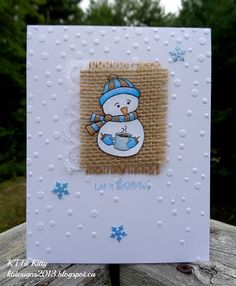 KT Fit Kitty: CAS Snowman with Burlap and Lace