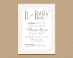 Shabby Chic Baby Shower Invitation Printable by GeminiCelebrations, $11.50