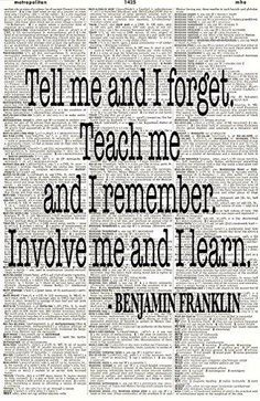 Benjamin Franklin Quote - Upcycled Dictionary Art - Wall Print - Poster - UNFRAMED