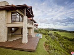 This modern home features a gourmet kitchen and stunning views of Zimbali.