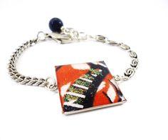 #kitokodesign #jewellery #ethnicchic Ethnic Ultra Chic- Bracelet with wax print fabric. WWW.KITOKODESIGN.COM