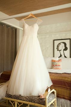 Beaded Cap Sleeve Wedding Dress Custom Tulle by Myweddinggarment, $188.00