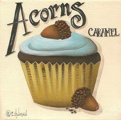 Image detail for -Acorn Caramel Cupcake Painting by Catherine Holman - Acorn Caramel ...