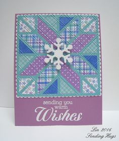 """Earlier this week I shared a quilt card as part of my DT work for the Simon Wednesday challenge. We get our assignments weeks in advance, and when I saw that our theme was """"Icy"""", I jumped the gun and"""