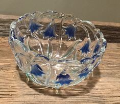 A personal favorite from my Etsy shop https://www.etsy.com/listing/576413535/mikasa-crystal-blue-bell-bowlscrystal
