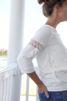 Lace Shirt DIY || How to add lace to shirt sleeves
