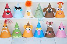 Vintage Muppet-Sammlung - benutzerdefinierte Party Hüte Satz von sechs aus Mary hatte ein kleines fest