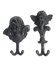Another great find on #zulily! Rustic Wall Hook Set #zulilyfinds