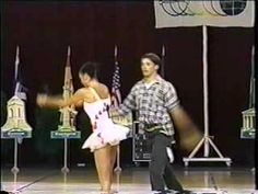 Baton Twirling French Senior Pair - 2001 for those who don't think twirling is a sport...... watch this!