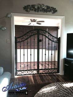 Wrought Iron Gates - Not just for the outdoors